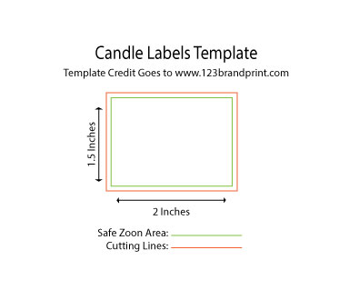 3 x 2 inches rectangular candle label templates