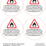 Candle Warning Labels Template