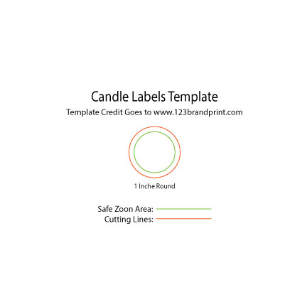 1×1 inchesl Round Candle Labels Templates
