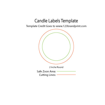 2×2 inches Round Candle Labels Templates
