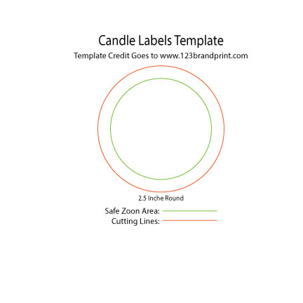 2.5×2.5 inches Round Candle Labels Templates