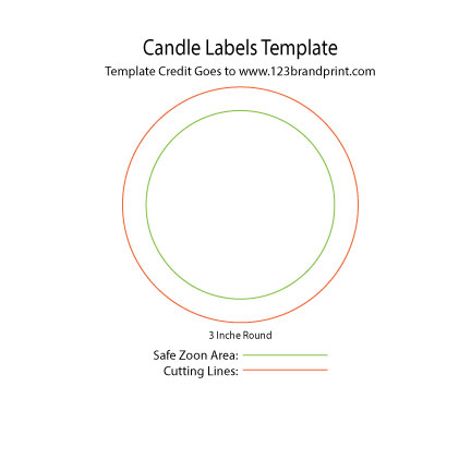 3×3 inches Round Candle Labels Templates