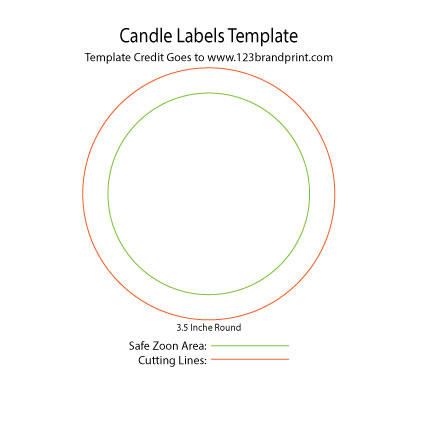 3.5×3.5 inches Round Candle Labels Templates