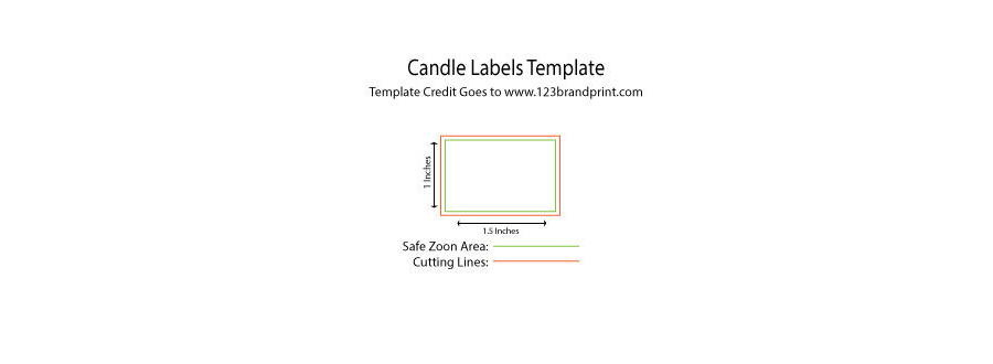 1.5 x 1 inches rectangular candle label templates