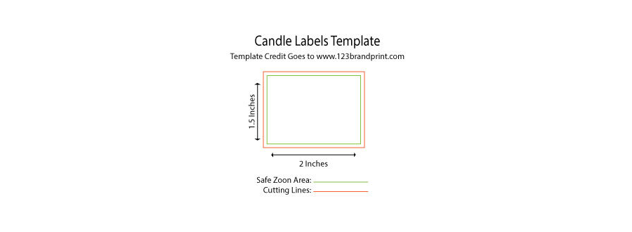 2 x 1.5 inches rectangular candle label templates