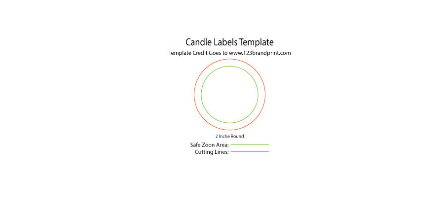 2x2 inches Round Candle Labels Templates
