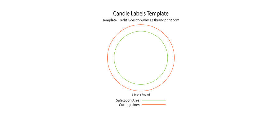 3x3 inches Round Candle Labels Templates